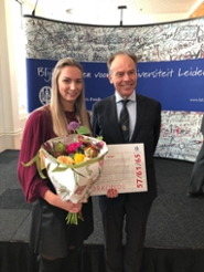 Law student Louise Verboeket won the first Leiden University Thesis Prize and the faculty Jongbloed Thesis Prize