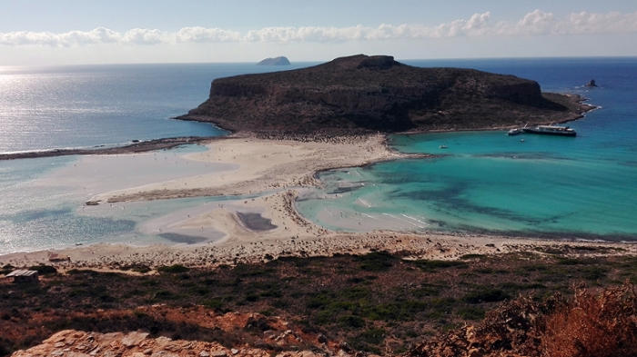 Balos beach in the west of Crete. Very touristic in Summer, but deserted from October